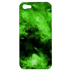 Bright Green Abstract Apple Iphone 5 Hardshell Case