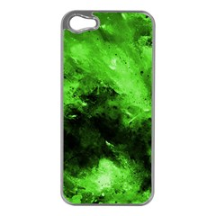 Bright Green Abstract Apple Iphone 5 Case (silver)