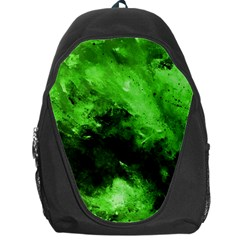 Bright Green Abstract Backpack Bag