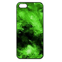Bright Green Abstract Apple Iphone 5 Seamless Case (black) by timelessartoncanvas
