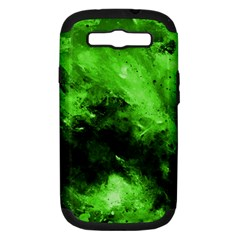 Bright Green Abstract Samsung Galaxy S Iii Hardshell Case (pc+silicone)
