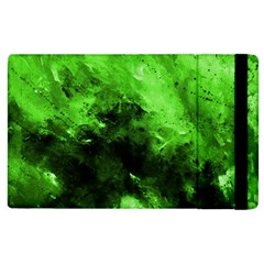 Bright Green Abstract Apple Ipad 2 Flip Case by timelessartoncanvas