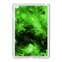 Bright Green Abstract Apple Ipad Mini Case (white) by timelessartoncanvas