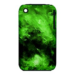 Bright Green Abstract Apple Iphone 3g/3gs Hardshell Case (pc+silicone)