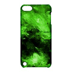 Bright Green Abstract Apple Ipod Touch 5 Hardshell Case With Stand
