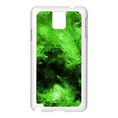 Bright Green Abstract Samsung Galaxy Note 3 N9005 Case (white)
