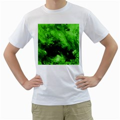 Bright Green Abstract Men s T Shirt (white)