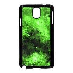Bright Green Abstract Samsung Galaxy Note 3 Neo Hardshell Case (black)