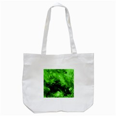 Bright Green Abstract Tote Bag (white)