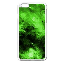 Bright Green Abstract Apple Iphone 6 Plus Enamel White Case