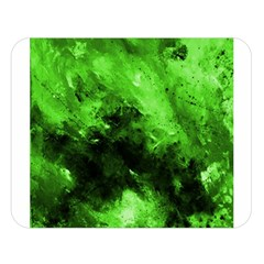 Bright Green Abstract Double Sided Flano Blanket (large)  by timelessartoncanvas