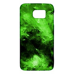 Bright Green Abstract Galaxy S6