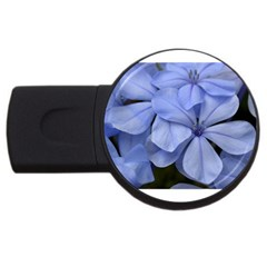 Bright Blue Flowers Usb Flash Drive Round (4 Gb)  by timelessartoncanvas