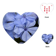 Bright Blue Flowers Playing Cards (heart)  by timelessartoncanvas
