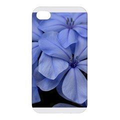 Bright Blue Flowers Apple Iphone 4/4s Premium Hardshell Case by timelessartoncanvas