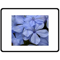 Bright Blue Flowers Double Sided Fleece Blanket (large)  by timelessartoncanvas