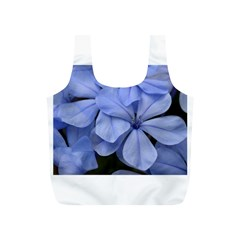 Bright Blue Flowers Full Print Recycle Bags (s)  by timelessartoncanvas