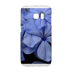 Bright Blue Flowers Galaxy S6 Edge by timelessartoncanvas
