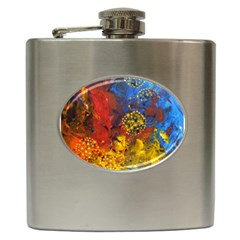 Space Pollen Hip Flask (6 Oz) by timelessartoncanvas