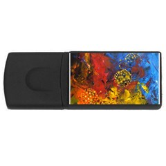 Space Pollen Usb Flash Drive Rectangular (4 Gb)  by timelessartoncanvas