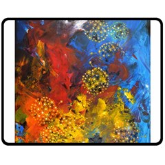 Space Pollen Double Sided Fleece Blanket (medium)  by timelessartoncanvas