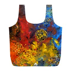 Space Pollen Full Print Recycle Bags (l)  by timelessartoncanvas