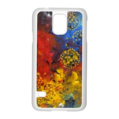 Space Pollen Samsung Galaxy S5 Case (white) by timelessartoncanvas