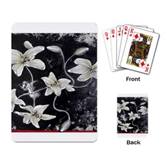 Black And White Lilies Playing Card