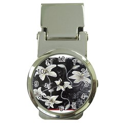 Black And White Lilies Money Clip Watches by timelessartoncanvas