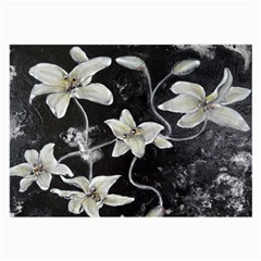 Black And White Lilies Large Glasses Cloth (2 Side)