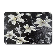 Black And White Lilies Small Doormat