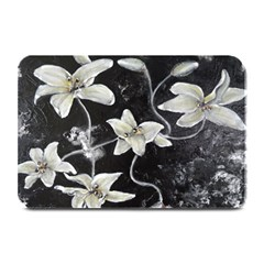 Black And White Lilies Plate Mats by timelessartoncanvas
