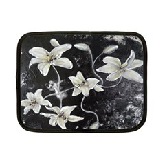 Black And White Lilies Netbook Case (small)  by timelessartoncanvas