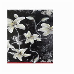Black And White Lilies Large Garden Flag (two Sides)