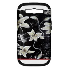 Black And White Lilies Samsung Galaxy S Iii Hardshell Case (pc+silicone) by timelessartoncanvas