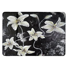Black And White Lilies Samsung Galaxy Tab 8 9  P7300 Flip Case by timelessartoncanvas