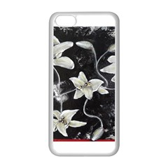 Black And White Lilies Apple Iphone 5c Seamless Case (white)