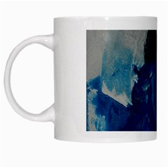 Blue Abstract White Mugs by timelessartoncanvas