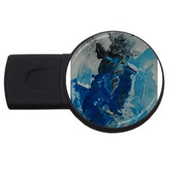 Blue Abstract Usb Flash Drive Round (4 Gb)  by timelessartoncanvas