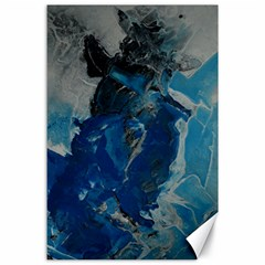 Blue Abstract Canvas 24  X 36  by timelessartoncanvas