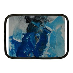 Blue Abstract Netbook Case (medium)  by timelessartoncanvas
