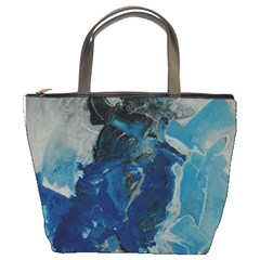 Blue Abstract Bucket Bags by timelessartoncanvas