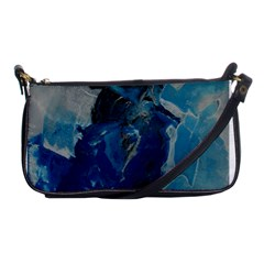 Blue Abstract Shoulder Clutch Bags by timelessartoncanvas