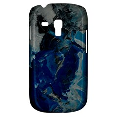Blue Abstract Samsung Galaxy S3 Mini I8190 Hardshell Case by timelessartoncanvas