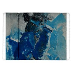Blue Abstract Samsung Galaxy Tab 10 1  P7500 Flip Case by timelessartoncanvas