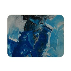 Blue Abstract Double Sided Flano Blanket (mini)  by timelessartoncanvas
