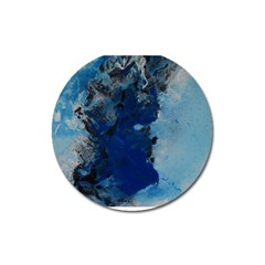 Blue Abstract No 2 Magnet 3  (round)