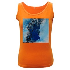 Blue Abstract No 2 Women s Dark Tank Tops by timelessartoncanvas
