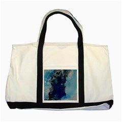 Blue Abstract No 2 Two Tone Tote Bag  by timelessartoncanvas