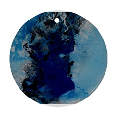 Blue Abstract No 2 Round Ornament (two Sides)